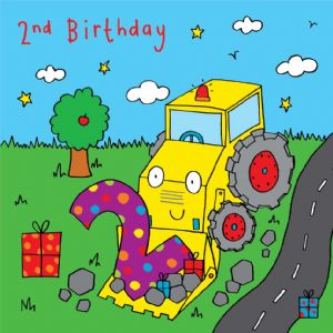 Digger Birthday Card - age 2